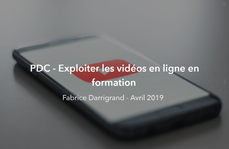 PDC - Exploiter les vidéos en ligne en formation