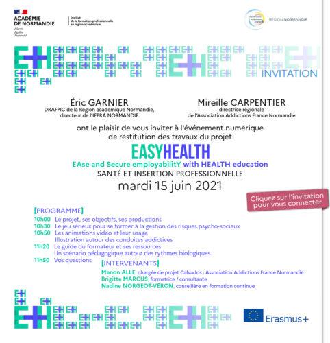 Un événement virtuel EASY HEALTH : Santé et insertion professionnelle