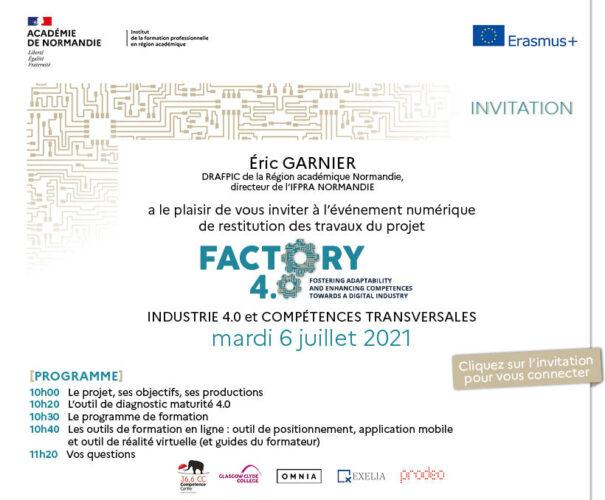 Un événement virtuel FACTORY : compétences transversales et industrie 4.0